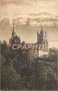 Ansichtskarte AK Lausanne La Cathedrale et la Dent d'Oche