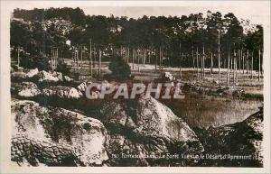 Moderne Karte Foret de Fontainebleau Vue sur le Desert d'Apremont