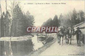 REPRO Stenay Les Bords de la Meuse Au dessus de l'Ecluse