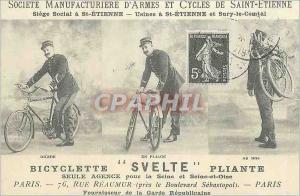 REPRO Societe Manufacture d'Armes et Cycles de Saint Etienne Bicyclette Svelte Pliante Velo Cycle