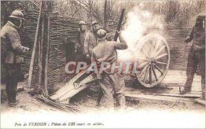 REPRO Pres de Verdun Pieces de 120 Court en action  Militaria