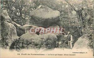Ansichtskarte AK Foret de Fontainebleau La Roche qui Remue (Mont Chauvet)
