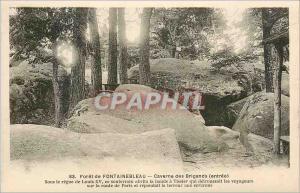 Ansichtskarte AK Foret de Fontainebleau Caverne des Brigands (entree)