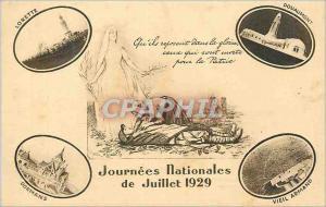 Ansichtskarte AK Journees Nationales de Juillet 1929 Militaria