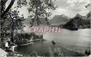 Moderne Karte Lac d'Annecy Talloires et le Petit Lac