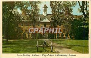 Moderne Karte Virginia Wren Building Wiilliam et Mary College
