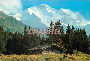 Moderne Karte Bei Wengen Berner Oberland Die Jungfrau (4158 m)