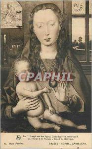 Ansichtskarte AK Bruges Hopital Saint Jean La Vierge a la Pomme Detail du Diptyque