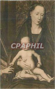 Ansichtskarte AK Bruges Hopital Saint Jean Mariage Mystique de Sainte Catherine Detail du Triptyque La Vierge et