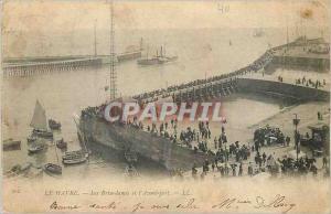 Ansichtskarte AK Le Havre Les Brise Lames et l'Avant Port
