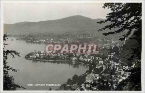 Moderne Karte Territet Montreux