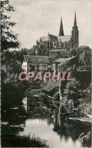 Moderne Karte Chartres (Eure et Loir) En Beauce Bords de l'Eure et la Cathedrale