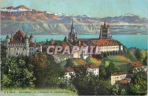 Ansichtskarte AK Lausanne Chateau et Cathedrale