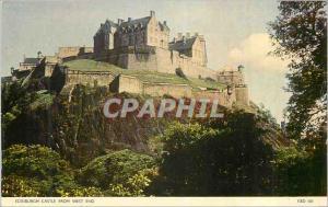 Moderne Karte Edinburgh Castle from West End