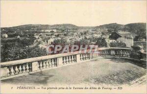 Ansichtskarte AK Perigueux Vue Generale prise de la Terrasse des Allees de Tourny