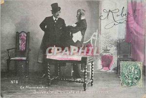 Ansichtskarte AK Le Monsieur Servez moi un Cafe et de quoi encore