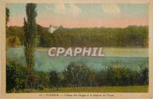 Ansichtskarte AK Pouance L'Etang et Chateau de Tresse