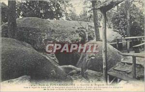 Ansichtskarte AK Foret de Fontainebleau Caverne de Brigands (Entree)