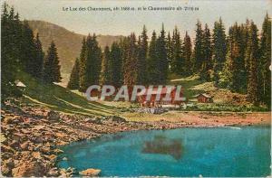 Ansichtskarte AK Le Lac des Chavonnes alt 1668 m et le Chamossaire alt 2116 m