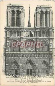 Ansichtskarte AK Paris Notre Dame (Facade) Notre Dame Cathedral (Front)