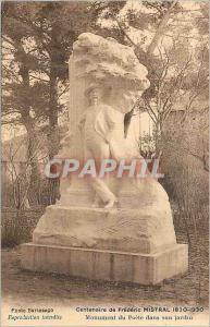 Ansichtskarte AK Centenaire de Frederic Mistral 1830 1930 Monument du Poete dans son Jardin
