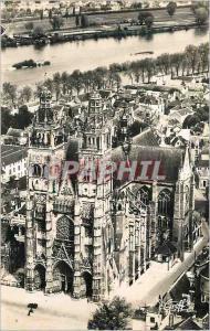 Moderne Karte Tours (Indre et Loire) En Touraine Vue aierinne La Cathedrale et la Loire