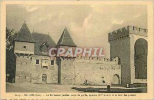 Ansichtskarte AK Cahors (Lot) La Barbacane (Ancien Corps de Garde Epoque XVe Siecle) et la Tour des Pendus