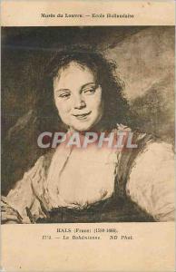Ansichtskarte AK Musee du Louvre Ecole Hollandaise Hals (Frans) La Bohemienne