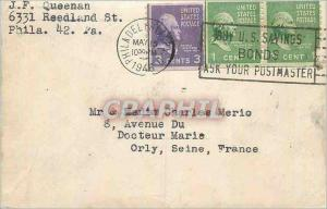 Lettre J F Queenan Reedland St Phila Pa Pour Merio Orly 1948 Philadelphia Buy US Savings