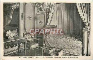 Ansichtskarte AK Palais de Fontainebleau Chambre a Coucher de Mme de Maintenon