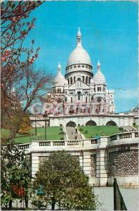 Moderne Karte Paris La Basilique du Sacre Coeur de Montmartre vue des Jardins