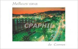 Moderne Karte Meilleurs Voeux de Cannes