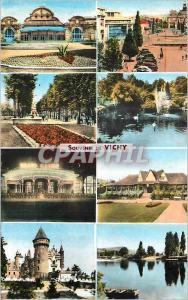 Moderne Karte Vichy (Allier) Le Casino Place de l'Hotel de Ville Le Parc Le Casino de Nuit Golf