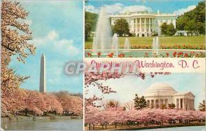 Moderne Karte Springtime in Washington DC