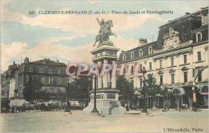 Ansichtskarte AK Clermont Ferrand (P de D) Place de Jaude et Vercingetorix Singe Vache Chevre Ane Donkey Marmotte