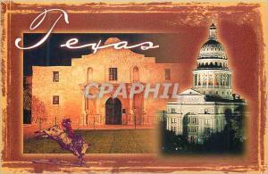 Moderne Karte Texas State Capitol and the Alamo