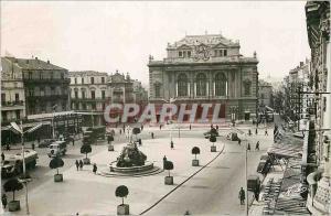 Moderne Karte Montpellier (Herault) La Place de la Comedie le Theatre et la Statue des Trois Graces Monoprix