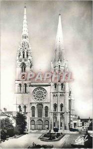 Moderne Karte La Cathedrale de Chartres La Facade principale