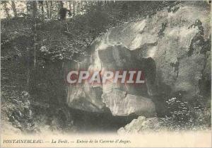 Ansichtskarte AK Fontainebleau La Foret Entree de la Caverne d'Augas