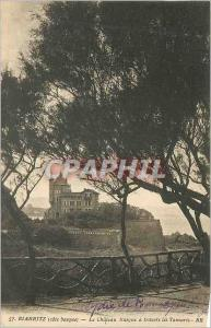 Ansichtskarte AK Biarritz (Cote Basque) le Chateau Basque a Travers les Tamaris