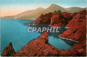 Moderne Karte Les Rochers du Trayas La Route de la Corniche d'Or La Cote d'Azur