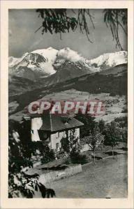 Moderne Karte Combloux (Haute Savoie) alt 980 m Le Manoir des Brons et le Mont Blanc