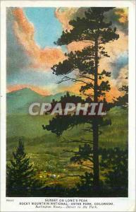 Ansichtskarte AK Estes Park Colorado Sunset on Long's Peak Rocky Mountain National