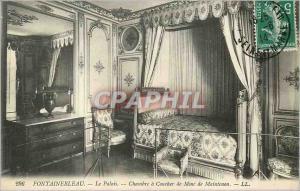 Ansichtskarte AK Fontainebleau Le Palais Chambre a Coucher de Mme de Maintenon