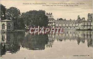 Ansichtskarte AK Palais de Fontainebleau Le Chateau et le Pavillon de l'Etang