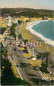 Moderne Karte Nice La Cote d'Azur La Promenade des Anglais