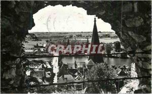 Moderne Karte En Touraine Montrichard (Loir et Cher) Le Pont sur le Chef vu du Donjon