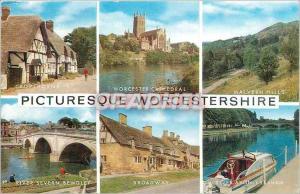 Moderne Karte Picturesque Worcestershire