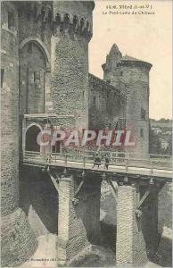 Ansichtskarte AK Vitre (L et V) le Pont Levis du Chateau