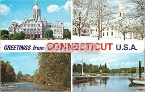 Moderne Karte Greetings from Connecticut USA